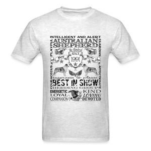 Australian Shepherd 'Best in Show' T shirt - Men's T-Shirt