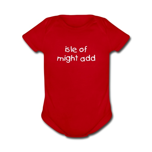 I love my dad onesey - Organic Short Sleeve Baby Bodysuit