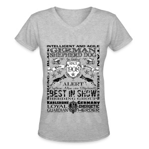 German Shepherd Dog 'Best in Show' Women's Tshirt - Women's V-Neck T-Shirt