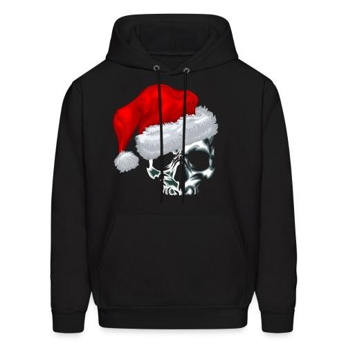 Men's Hoodie - xmas,skulls,skull,santa,naughty or nice,hoodie,bones