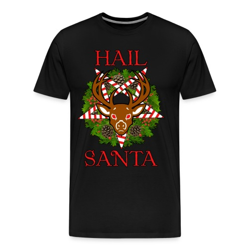HAIL SANTA MENS BLACK T-SHIRT - Men's Premium T-Shirt