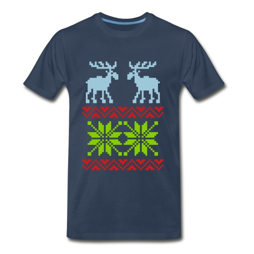 Reindeer Sweater T-shirt - Men's Premium T-Shirt