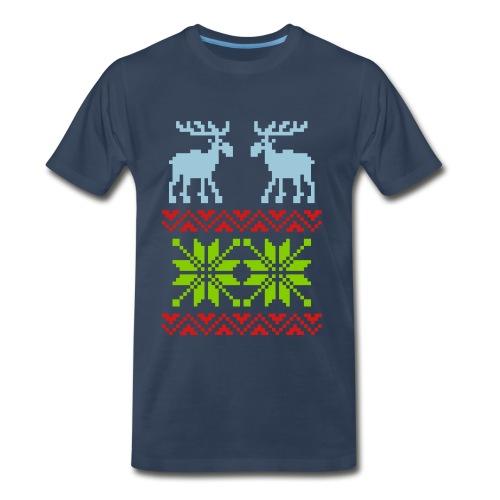Reindeer Sweater T-shirt - Men's Premium T-Shirt