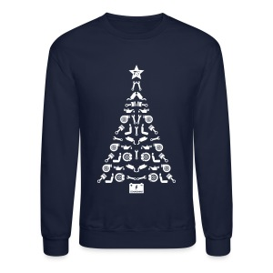Car Parts Christmas Tree Sweater - Crewneck Sweatshirt