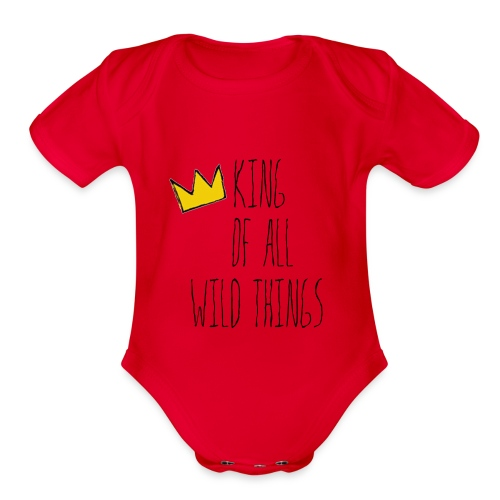 King of all Wild Things - Organic Short Sleeve Baby Bodysuit