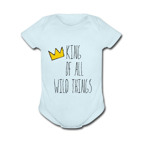 King of all Wild Things - Organic Short Sleeve Baby Bodysuit