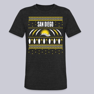 San Diego Ugly Sweater - Unisex Tri-Blend T-Shirt by American Apparel