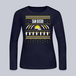 San Diego Ugly Sweater - Women's Long Sleeve Jersey T-Shirt