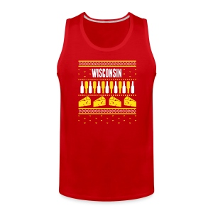 Wisconsin Ugly Sweater - Men's Premium Tank