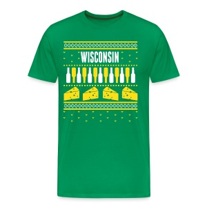 Wisconsin Ugly Sweater - Men's Premium T-Shirt