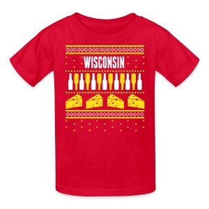 Wisconsin Ugly Sweater - Kids' T-Shirt