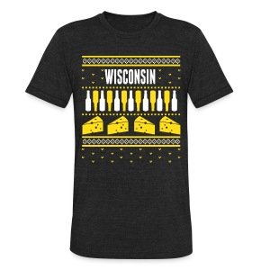 Wisconsin Ugly Sweater - Unisex Tri-Blend T-Shirt by American Apparel