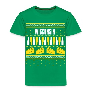 Wisconsin Ugly Sweater - Toddler Premium T-Shirt
