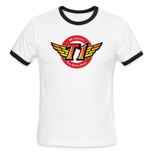 SKT  Logo (best quality ever) - Men's Ringer T-Shirt