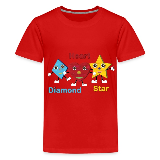 Shapes Trio With Diamond, Heart and Star
