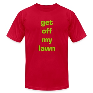 get off my lawn shirt - Men's T-Shirt by American Apparel