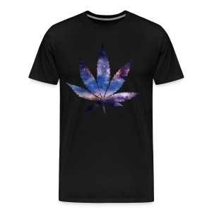 Space Marijuana Leaf - Men's Premium T-Shirt