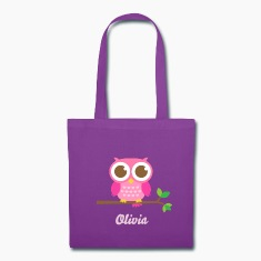 Cute Pink Owl Bags & backpacks