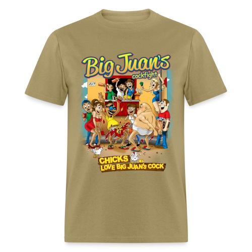 Clothing, T-shirt, Big Juan's Cock Fight - Men's T-Shirt