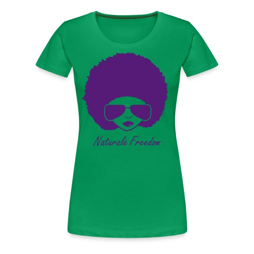 Afro Lady in T-Shirt in Purple - Women's Premium T-Shirt