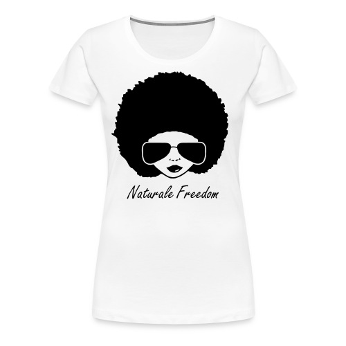 Afro Lady in Black T-Shirt - Women's Premium T-Shirt