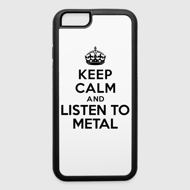Keep calm listen to Metal Accessories - iPhone 6/6s Rubber Case