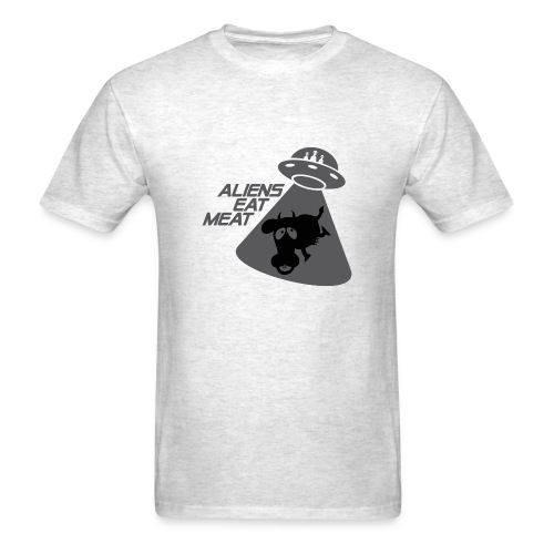 Alien Eat Meat - Men's T-Shirt