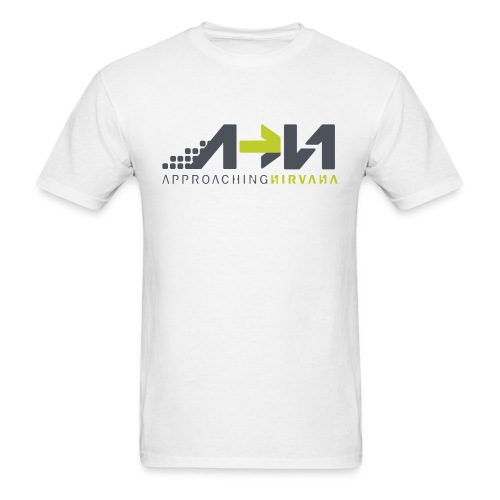 White Arrow Logo - Men's T-Shirt