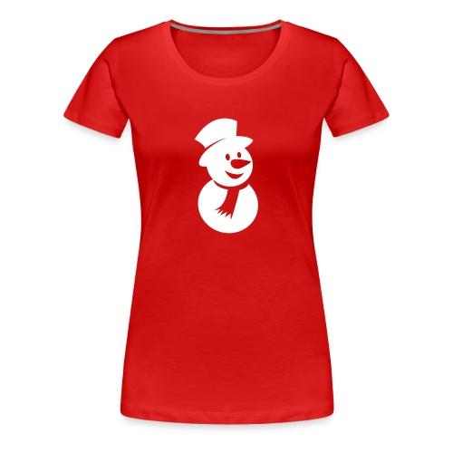 Snowman Icon 3 (3c) - Women's Premium T-Shirt