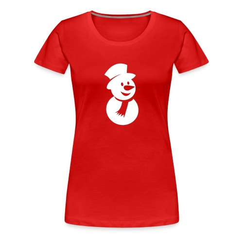 Snowman Icon 3 (3c) - Women's Premium T-Shirt
