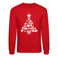 Long Sleeve Shirts ~ Crewneck Sweatshirt ~ Social Blade Christmas Sweatshirt