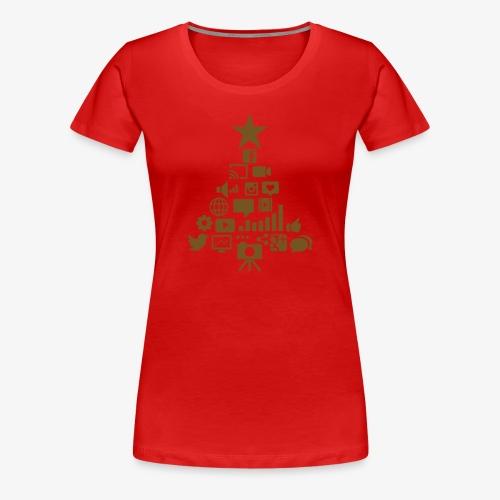 Social Blade Glitter Christmas Women's Shirt - Women's Premium T-Shirt