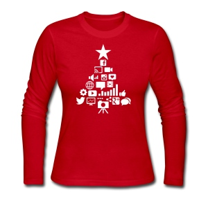 Social Blade Christmas Long-sleeve Women's Shirt - Women's Long Sleeve Jersey T-Shirt