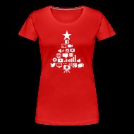 T-Shirts ~ Women's Premium T-Shirt ~ Social Blade Christmas Women's Shirt