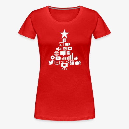 Social Blade Christmas Women's Shirt - Women's Premium T-Shirt