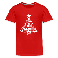 Kids' Shirts ~ Kids' Premium T-Shirt ~ Social Blade Kids Christmas Premium T-Shirt