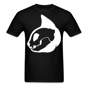 Cat Skull Profile Inverted - Men's T-Shirt