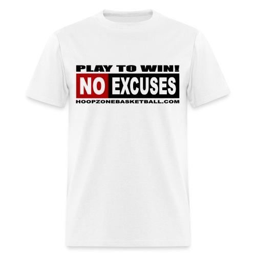 NO EXCUSES w/dark art - Men's T-Shirt