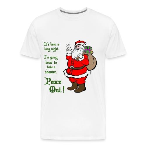 Santa Say's Peace Out! - Men's Premium T-Shirt