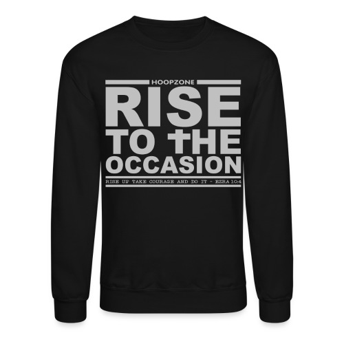 RISE Crew Sweatshirt w/light art - Crewneck Sweatshirt