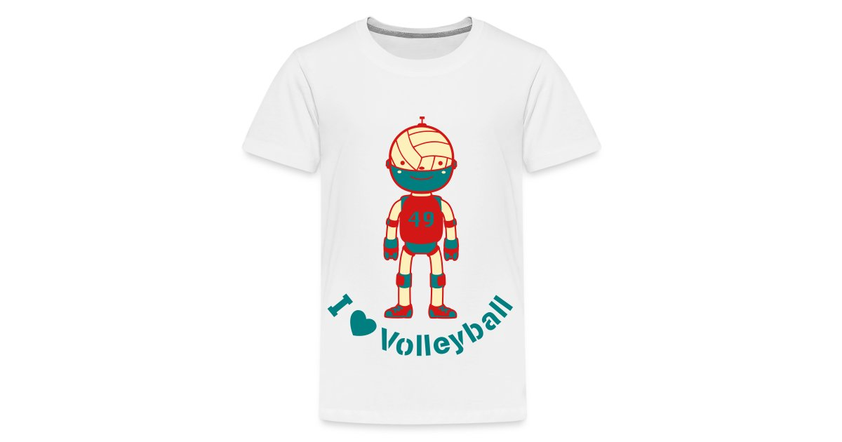 8ecb08ae487 ABCkidTV Store | Sports Volleyball Robot - Kids Premium T-Shirt