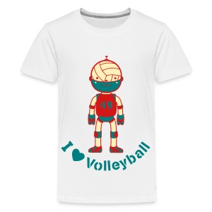 Sports Volleyball Robot - Kids' Premium T-Shirt