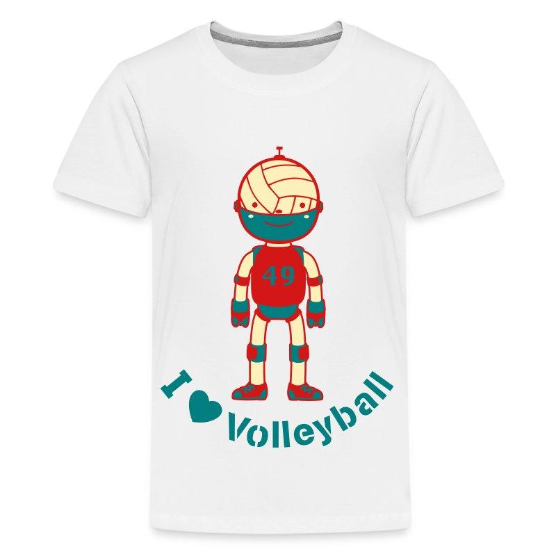 Sports Volleyball Robot - Kids' Premium T-Shirt