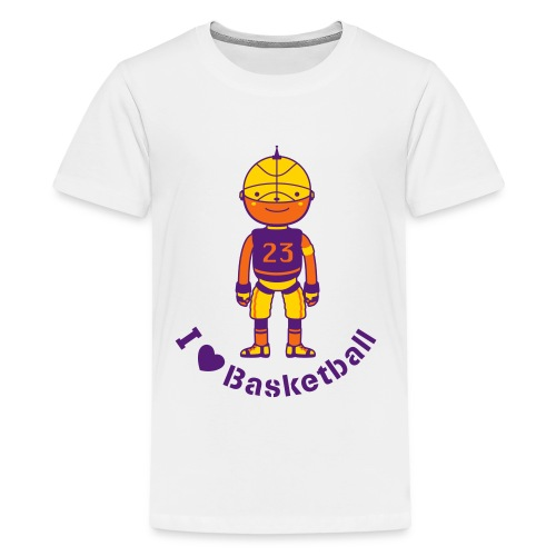 Sports Basketball Robot - Kids' Premium T-Shirt