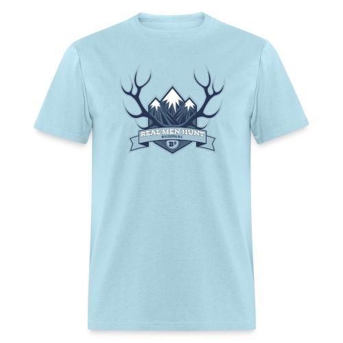 B3 REAL MEN HUNT Light Blue Tee - Men's T-Shirt