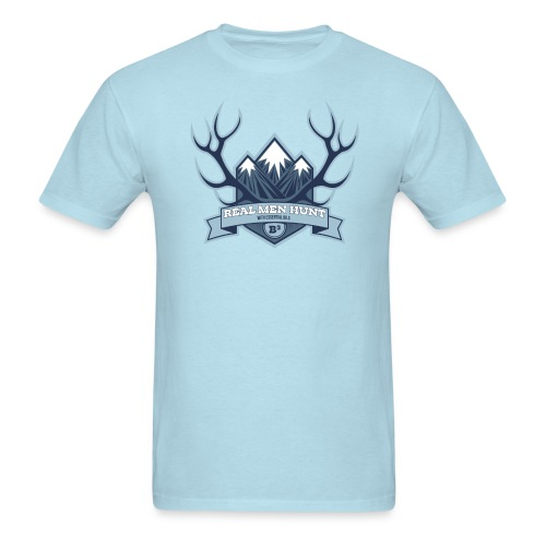 B3 REAL MEN HUNT Light Blue Tee - Men's T-Shirt