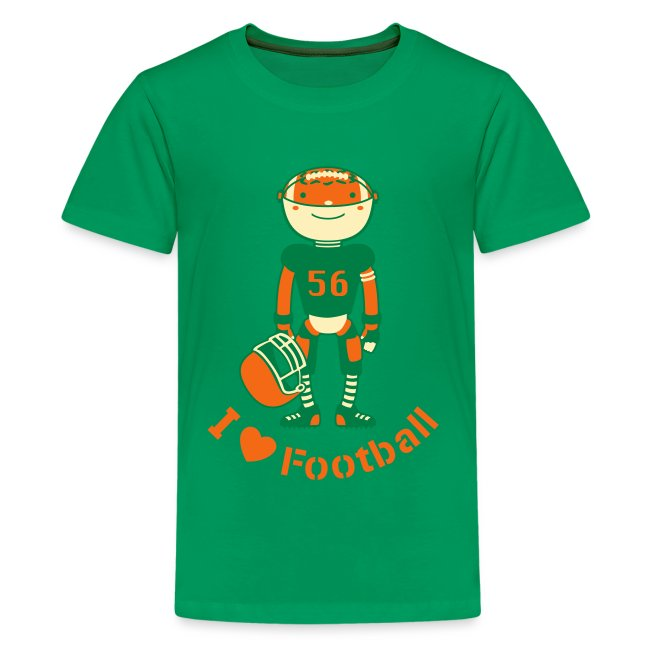 d710dba30a8 Sports Football Robot | Kids' Premium T-Shirt