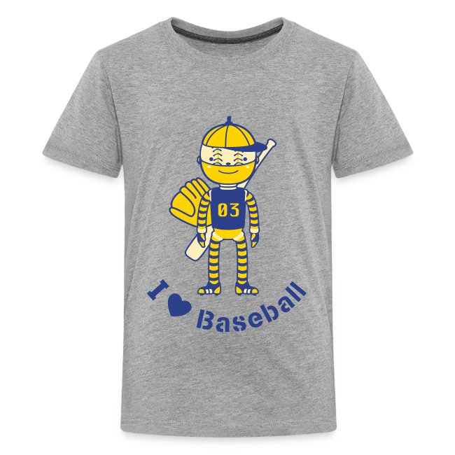 c1b154a3e2a Sports Baseball Robot | Kids' Premium T-Shirt