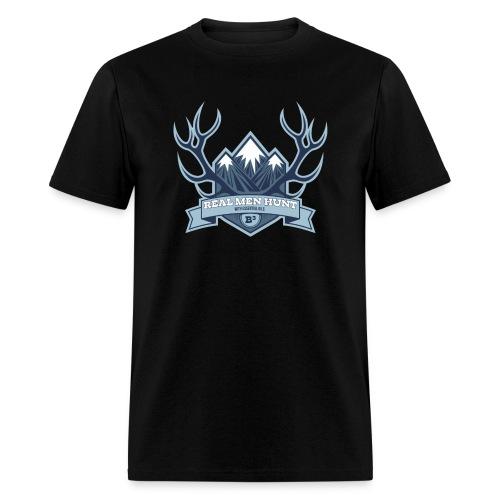 B3 REAL MEN HUNT Black Tee - Men's T-Shirt