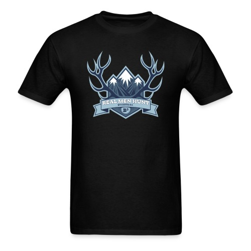 B3 REAL MEN HUNT Black Tee - Men's T-Shirt